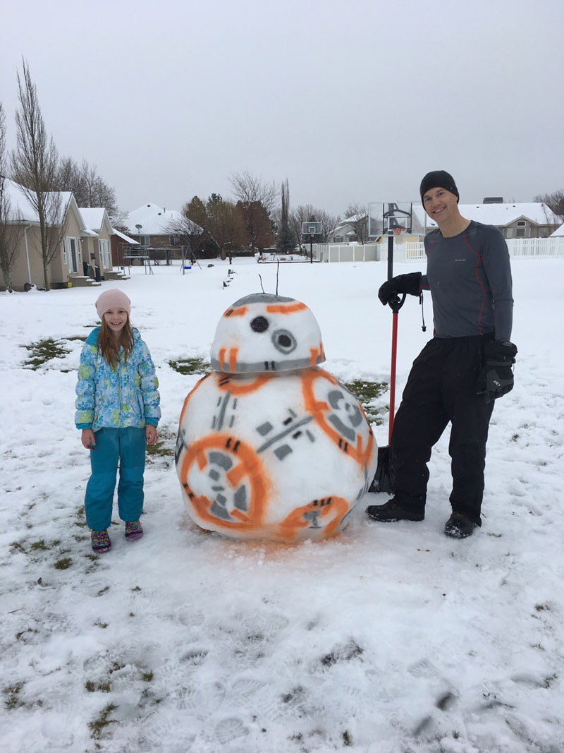 bb 8 snowman droid reddit Picture of the Day: Why Make a Snowman When You Can Build a BB 8!