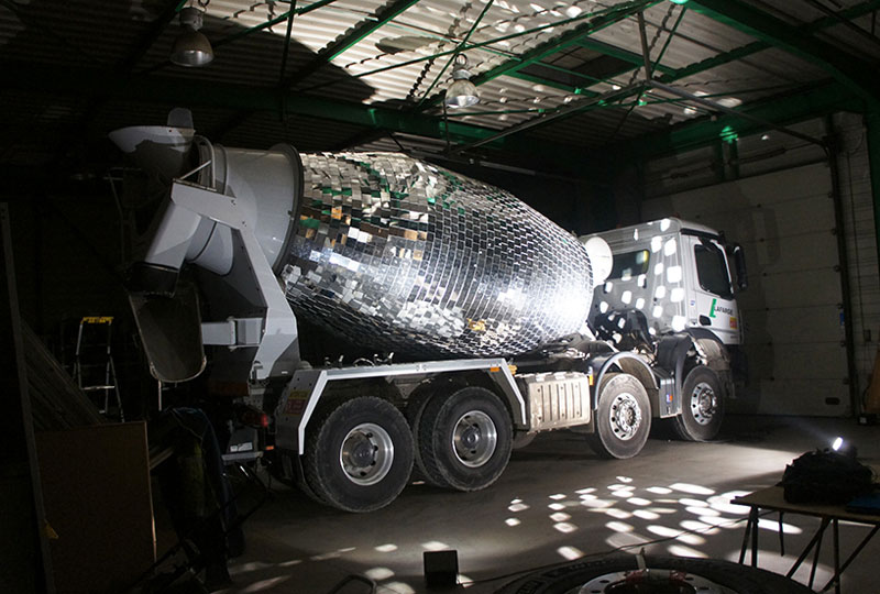 disco ball concrete mixer by benedetto bufalino 10 Disco Ball Concrete Mixer Wants to Party Hard