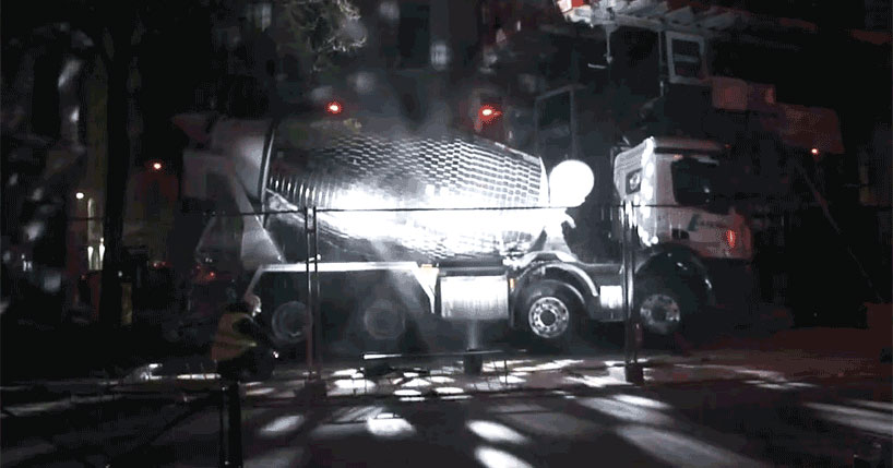 Disco Ball Concrete Mixer Wants to Party Hard