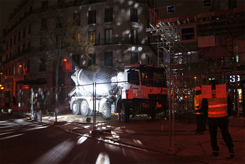 disco ball concrete mixer by benedetto bufalino 4 Disco Ball Concrete Mixer Wants to Party Hard