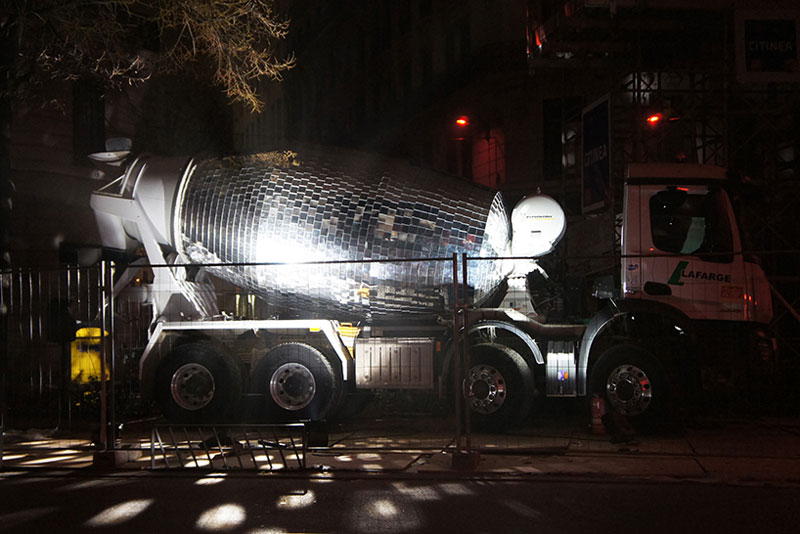 disco ball concrete mixer by benedetto bufalino 5 Disco Ball Concrete Mixer Wants to Party Hard