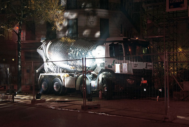 disco ball concrete mixer by benedetto bufalino 8 Disco Ball Concrete Mixer Wants to Party Hard