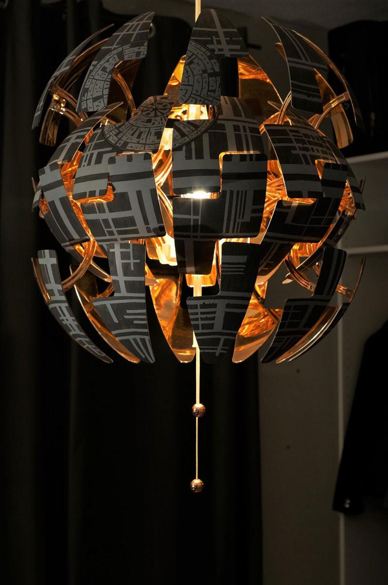 ikea death star lamp diy 13 Star War Fans Turn Popular IKEA Lamp Into Death Star