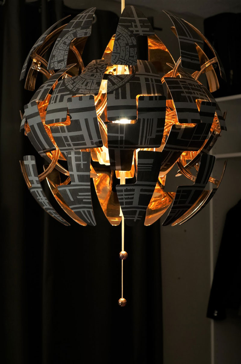 ikea death star lamp diy 13 Star War Fans Turn Popular IKEA Lamp Into Death Star
