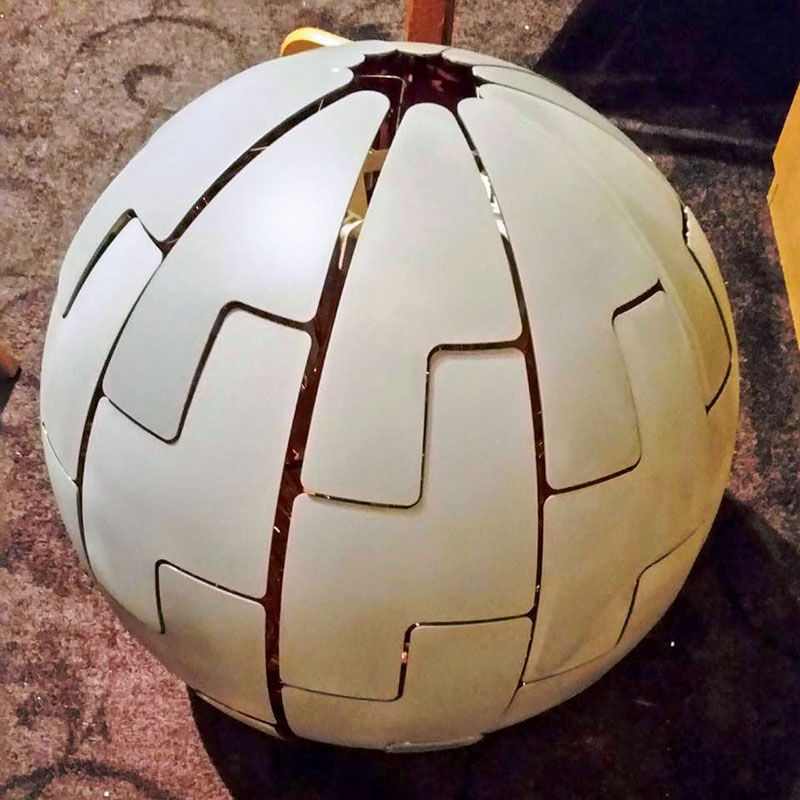 ikea death star lamp diy 3 Star War Fans Turn Popular IKEA Lamp Into Death Star