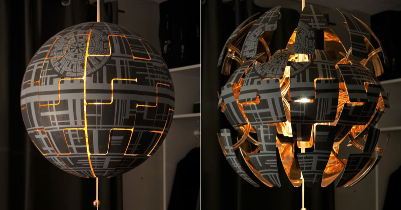 Star War Fans Turn Popular IKEA Lamp Into Death Star