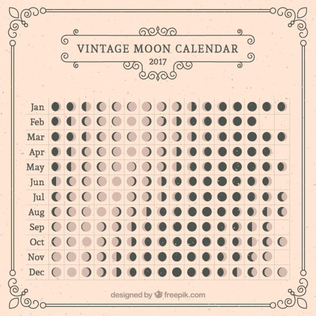 moon calendar 2017 by freepik Moon Calendars for 2017