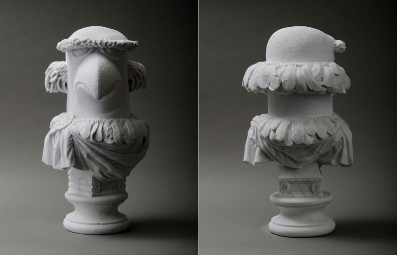 sam the eagle muppets marble bust by sebastian martorana 10 This Marble Bust of Sam the Eagle is Perfect