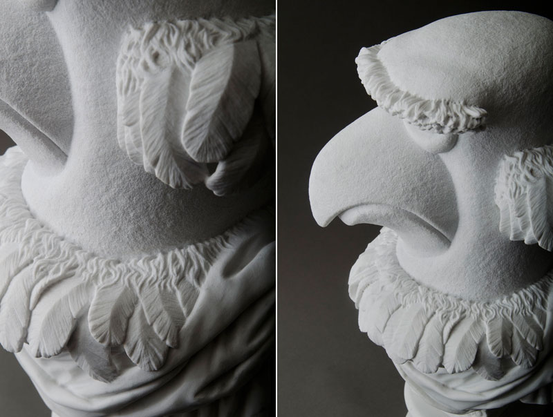 sam the eagle muppets marble bust by sebastian martorana 9 This Marble Bust of Sam the Eagle is Perfect
