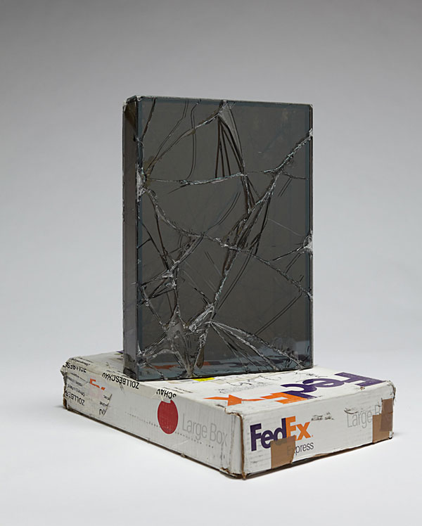 shipping glass boxes with fedex by walead beshty 2 This Guy Shipped Glass Boxes Inside FedEx Packages and Exhibited the Results