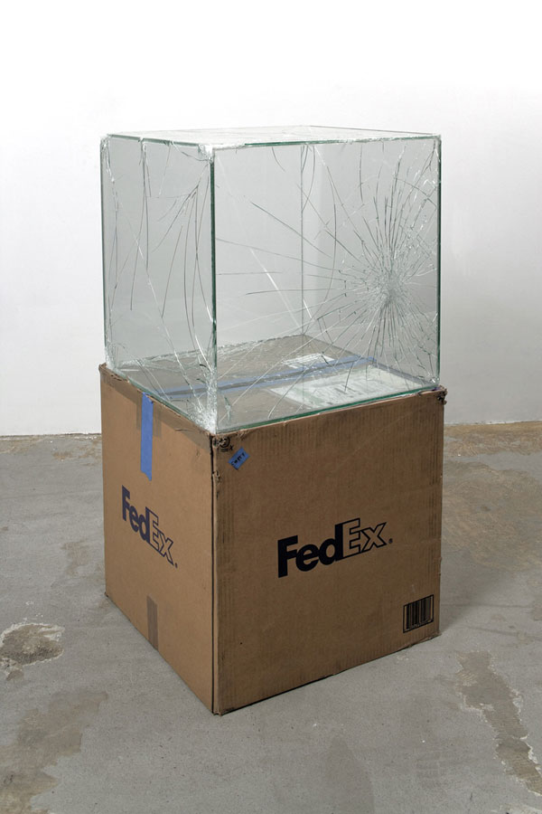 shipping glass boxes with fedex by walead beshty 3 This Guy Shipped Glass Boxes Inside FedEx Packages and Exhibited the Results