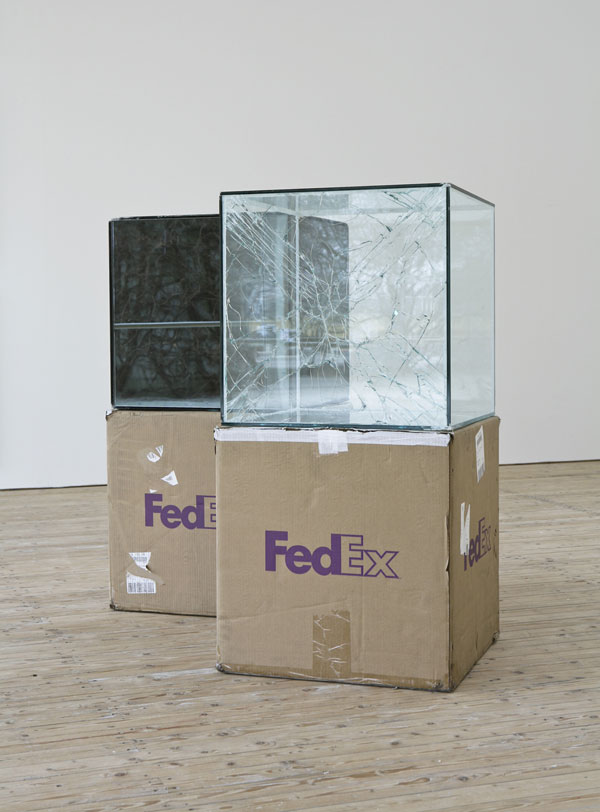 shipping glass boxes with fedex by walead beshty 4 This Guy Shipped Glass Boxes Inside FedEx Packages and Exhibited the Results