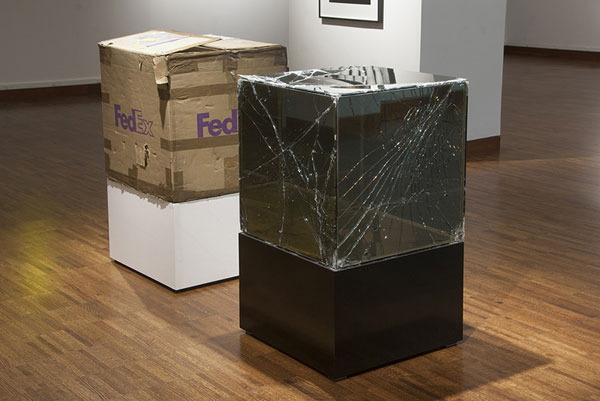 shipping glass boxes with fedex by walead beshty 6 This Guy Shipped Glass Boxes Inside FedEx Packages and Exhibited the Results