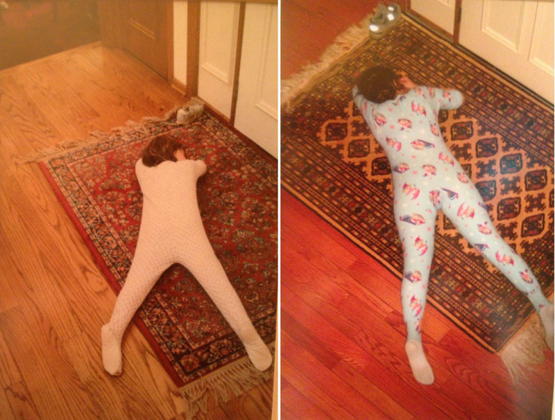 siblings recreate photos of them passed out as kids 4 These Siblings Recreated Funny Photos of Them Passed Out as Kids and Its Hilarious
