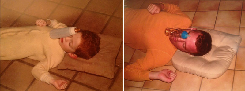 siblings recreate photos of them passed out as kids 8 These Siblings Recreated Funny Photos of Them Passed Out as Kids and Its Hilarious