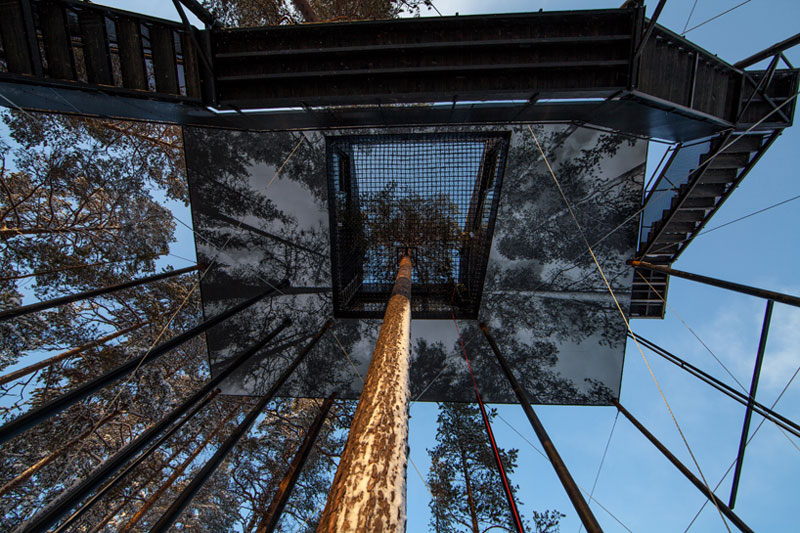 treehotel sweden the 7th room 11 The Newest Room at Swedens Treehotel has an Outdoor Net With a Tree Through It