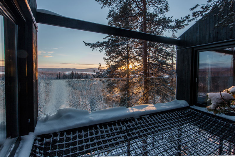 treehotel sweden the 7th room 14 The Newest Room at Swedens Treehotel has an Outdoor Net With a Tree Through It