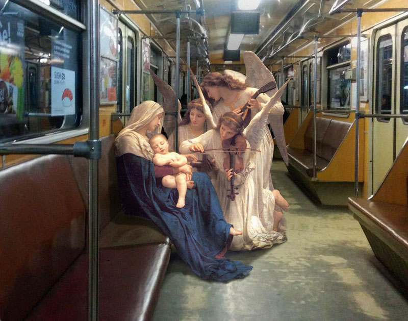 alexey kondakov takes characters from renaissance paintings and photoshops the into the present 13 Guy Takes Characters from Renaissance Paintings and Photoshops Them Into the Present