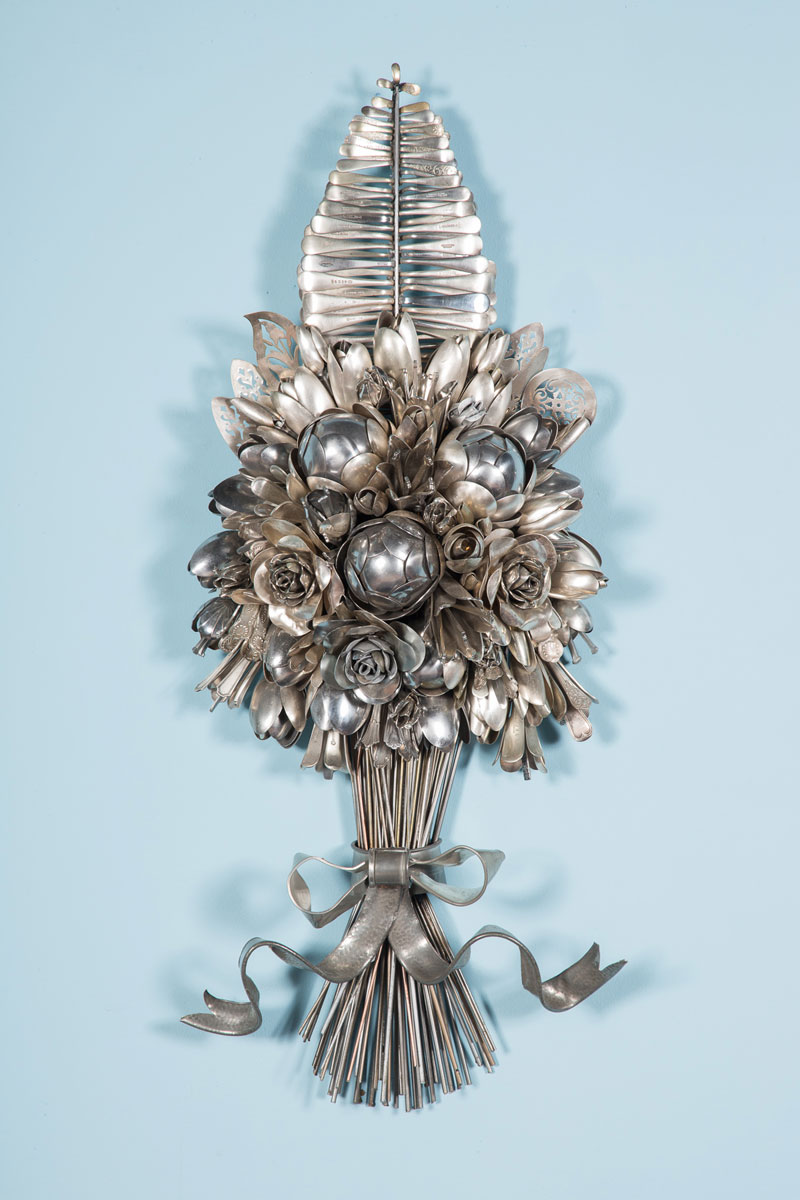 bouquets made from old silverware by ann carrington 4 Ann Carrington Makes Beautiful Bouquets from Old Silverware