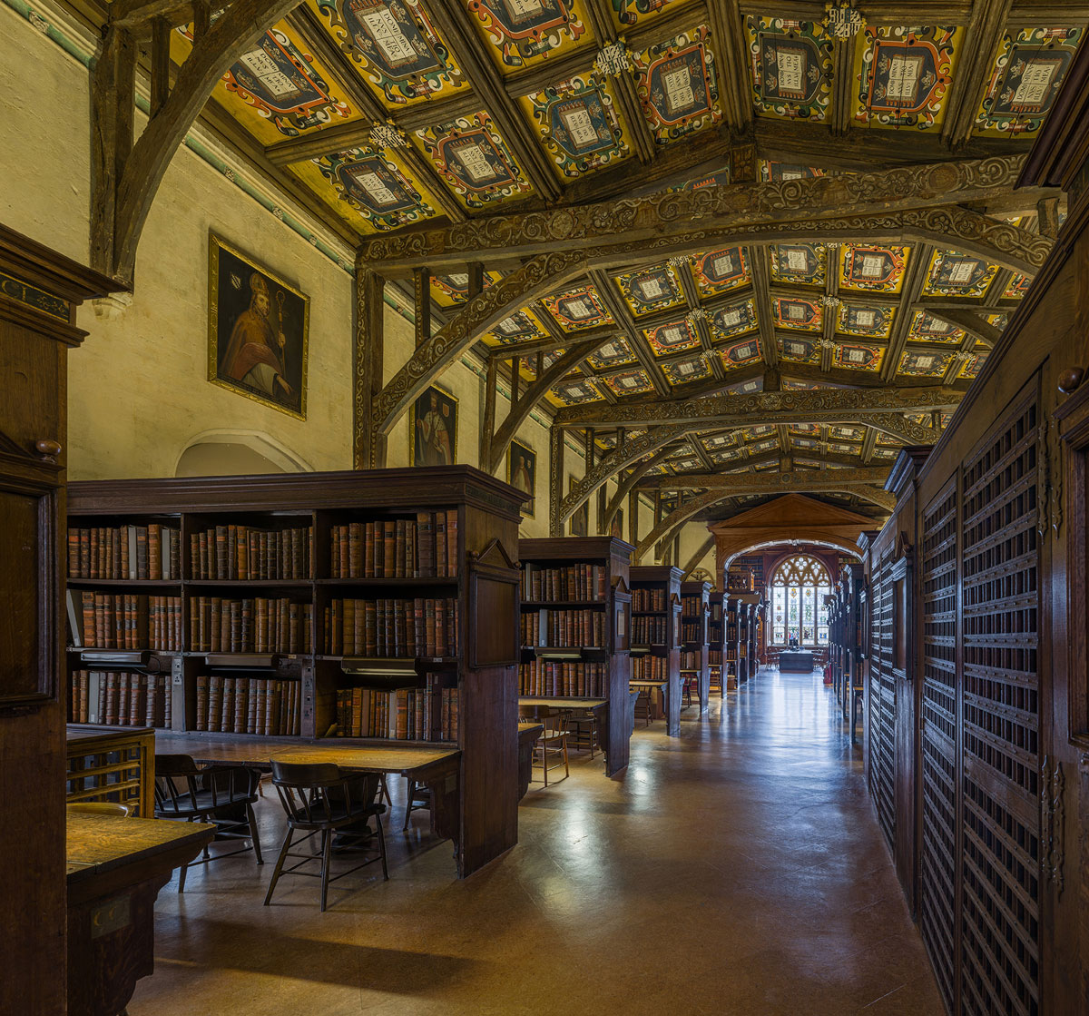 duke humfreys library bodleian libary university of oxford by david iliff 1 This Reading Room at the University of Oxford is One of the Oldest in Europe