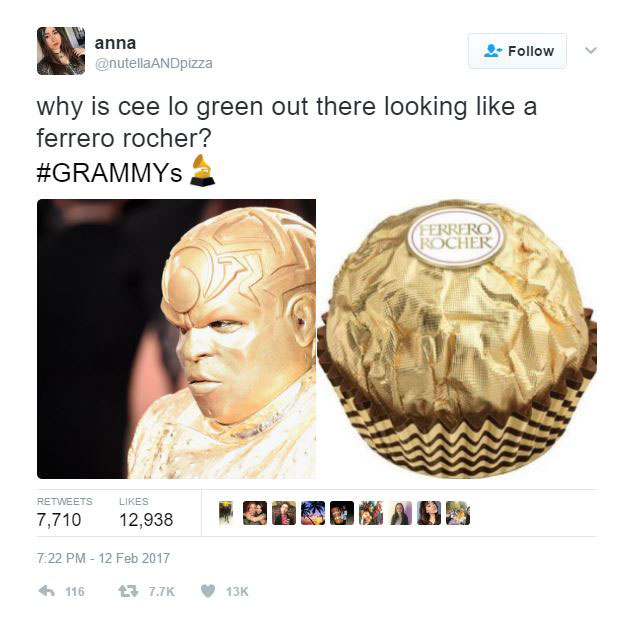 gold ceelo green meme 2?w=630&h=620 ceelo green wore an all gold outfit to the grammys and the