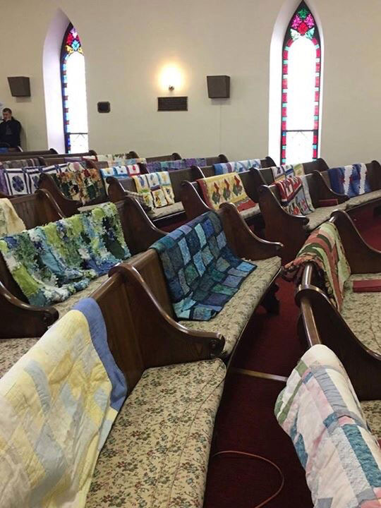 grandmas-handmade-quilts-at-her-funeral