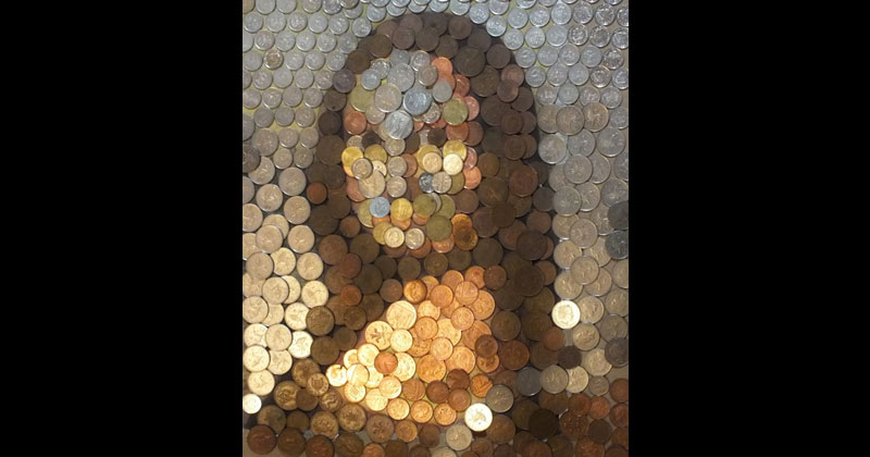 mona lisa made from coins value of art by hayley whittingham 2 Money Lisa
