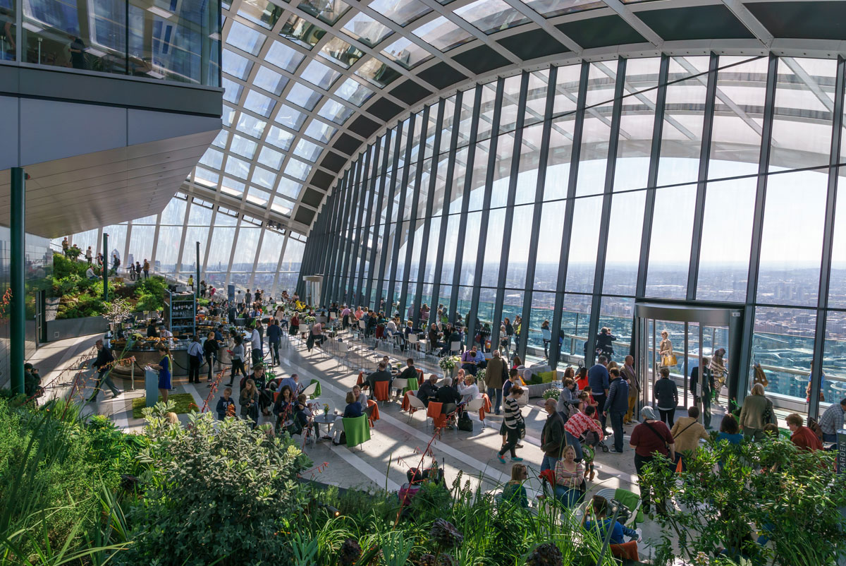 sky garden london highest public garden in london Picture of the Day: The Highest Public Garden in London