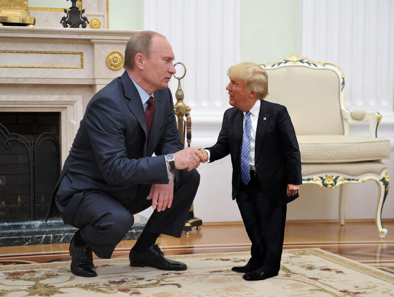 Tiny Trump Is What The World Needs Right Now TwistedSifter - The internet is using photoshop to make tiny trumps and its hilarious