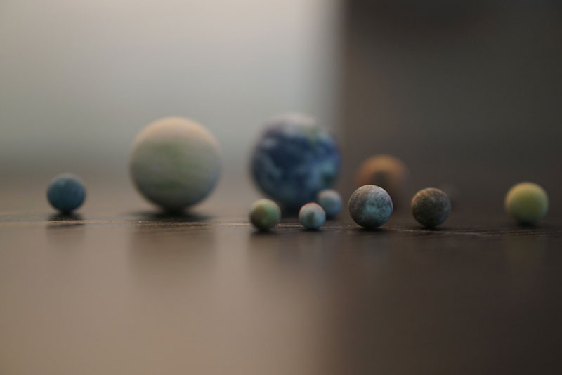 3d printed scale model solar system by little planet factory 3 3D Printed, Scale Model of the Solar System Fits in the Palm of Your Hand