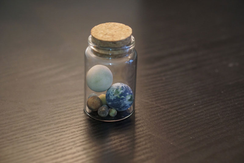 3d printed scale model solar system by little planet factory 4 3D Printed, Scale Model of the Solar System Fits in the Palm of Your Hand