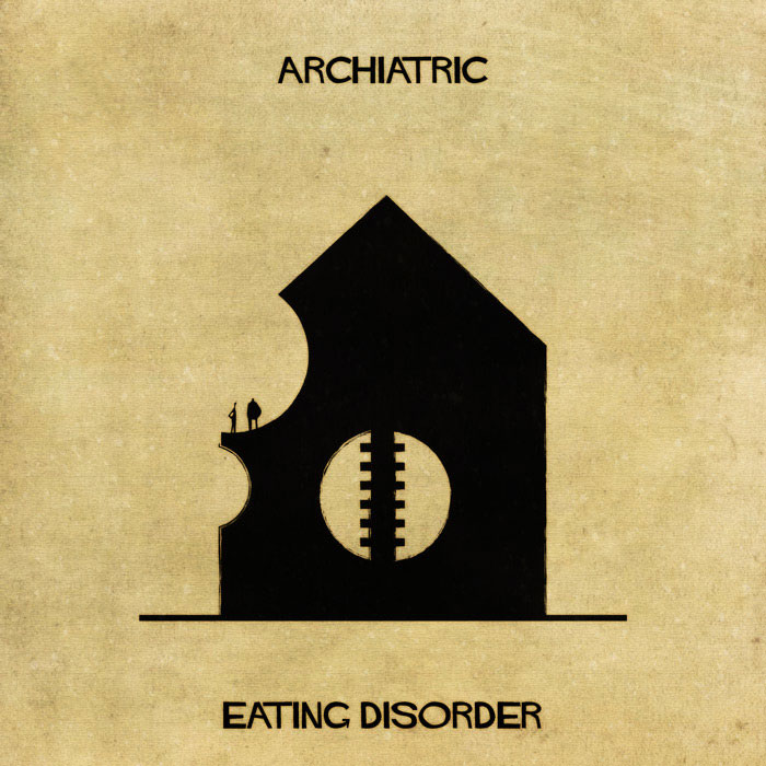 archiatric by federico babina 12 Artist Interprets Mental Illnesses and Disorders Through Architecture