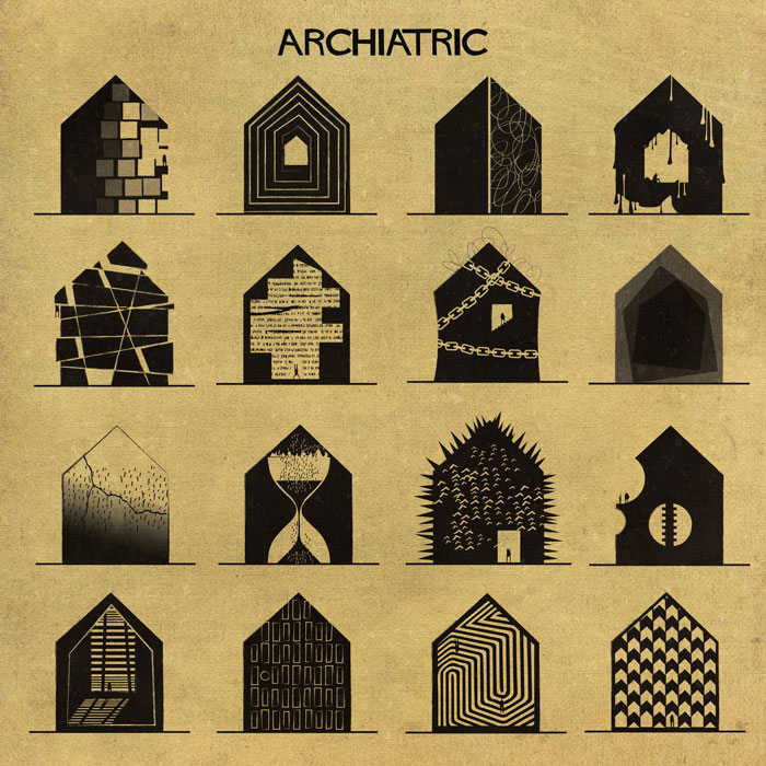 archiatric by federico babina 17 Artist Interprets Mental Illnesses and Disorders Through Architecture