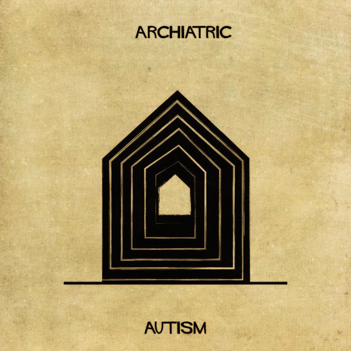 archiatric by federico babina 2 Artist Interprets Mental Illnesses and Disorders Through Architecture