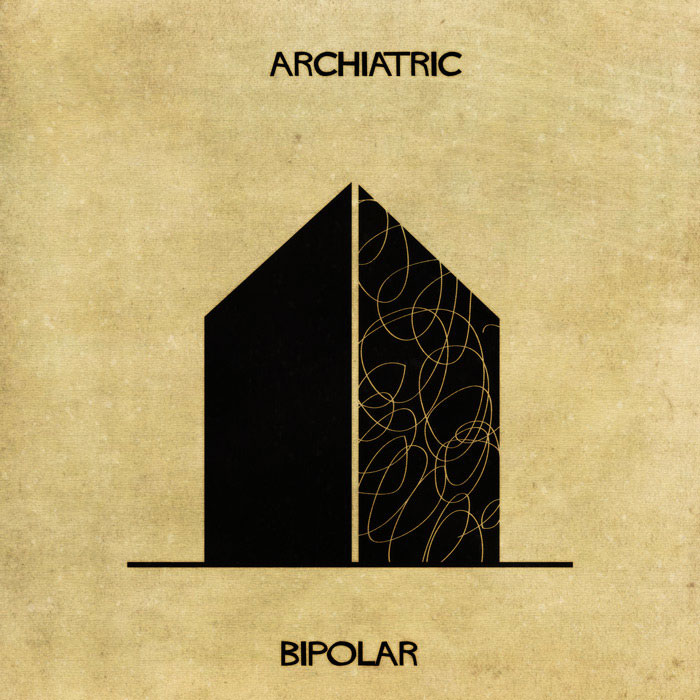 archiatric by federico babina 3 Artist Interprets Mental Illnesses and Disorders Through Architecture