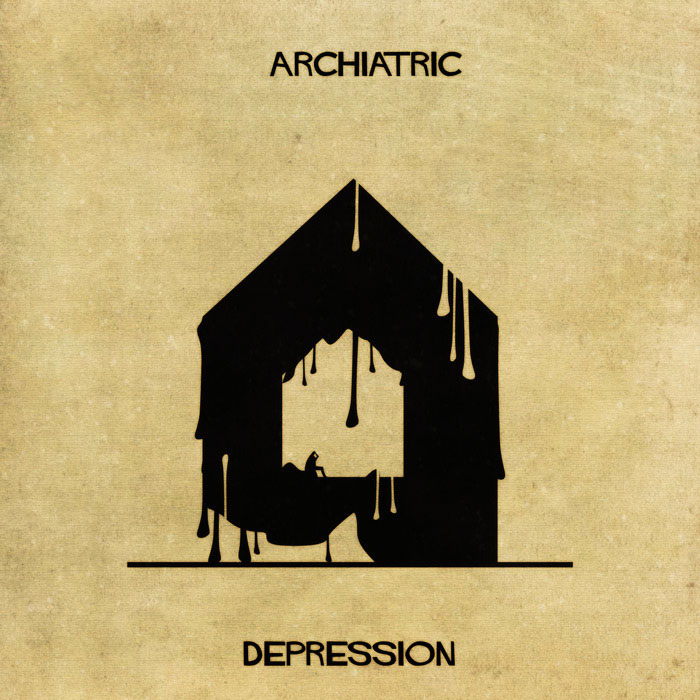 archiatric by federico babina 4 Artist Interprets Mental Illnesses and Disorders Through Architecture