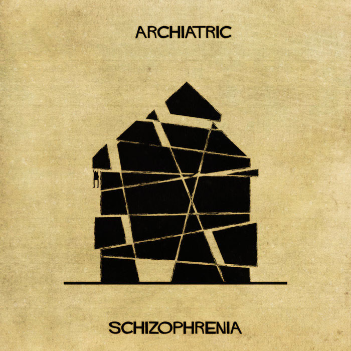 archiatric by federico babina 5 Artist Interprets Mental Illnesses and Disorders Through Architecture