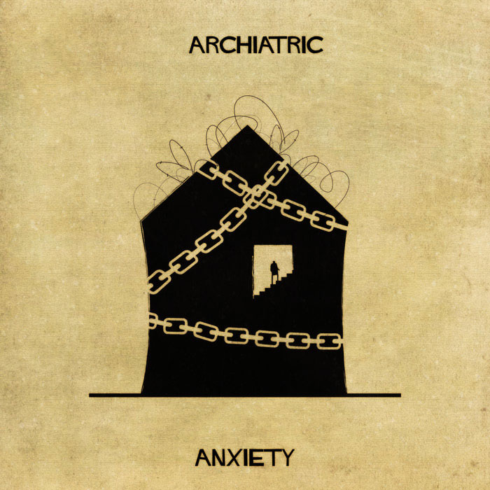 archiatric by federico babina 7 Artist Interprets Mental Illnesses and Disorders Through Architecture