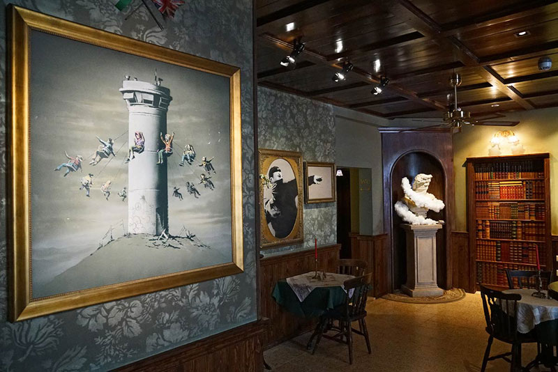banksy hotel palestine 14 Banksy Opens Art Hotel with Worlds Worst View