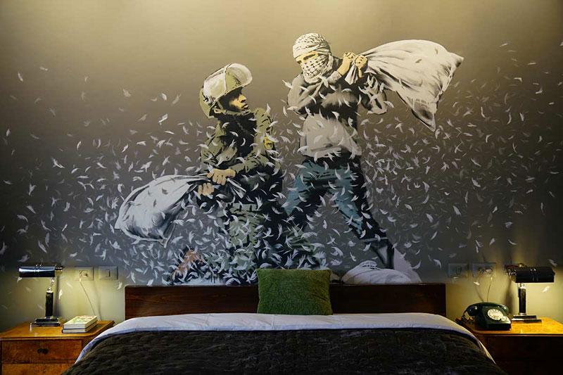 Banksy Opens Art Hotel with 'World's WorstView'