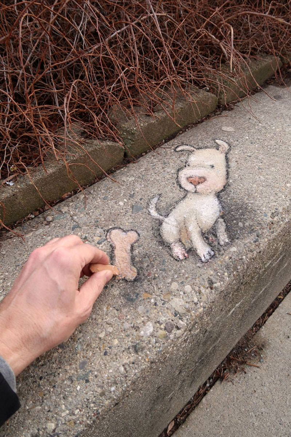 chalk art by david zinn 12 David Zinn Uses Chalk to Brighten Peoples Days