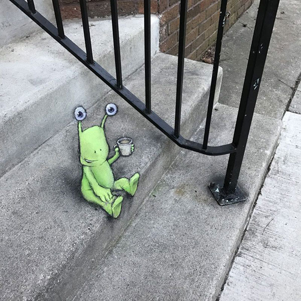 chalk art by david zinn 2 David Zinn Uses Chalk to Brighten Peoples Days
