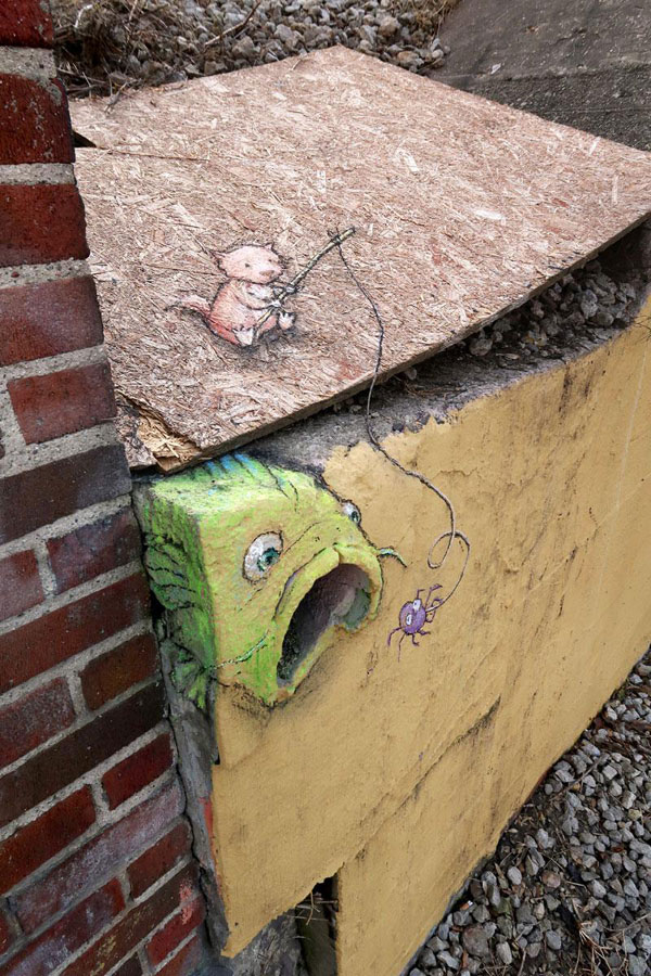 chalk art by david zinn 4 David Zinn Uses Chalk to Brighten Peoples Days