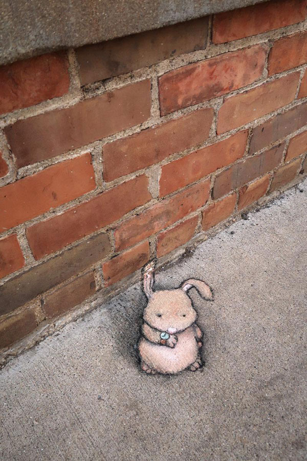 chalk art by david zinn 7 David Zinn Uses Chalk to Brighten Peoples Days