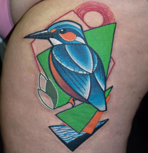 cubist tattoos by mike boyd 3 18 Awesome Abstract and Cubist Style Tattoos by Mike Boyd