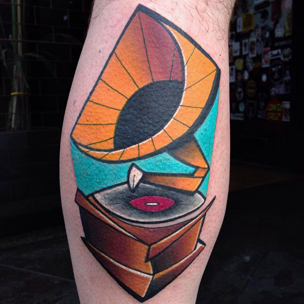cubist tattoos by mike boyd 6 18 Awesome Abstract and Cubist Style Tattoos by Mike Boyd