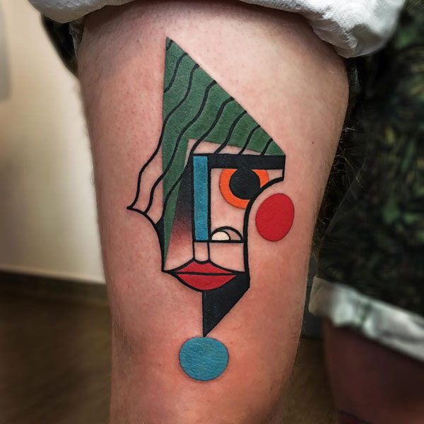 cubist tattoos by mike boyd 9 18 Awesome Abstract and Cubist Style Tattoos by Mike Boyd