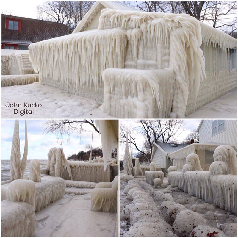 house incased in ice by john kucko digital 1 Crashing Waves, Strong Winds and Freezing Temps Encase Home in Ice