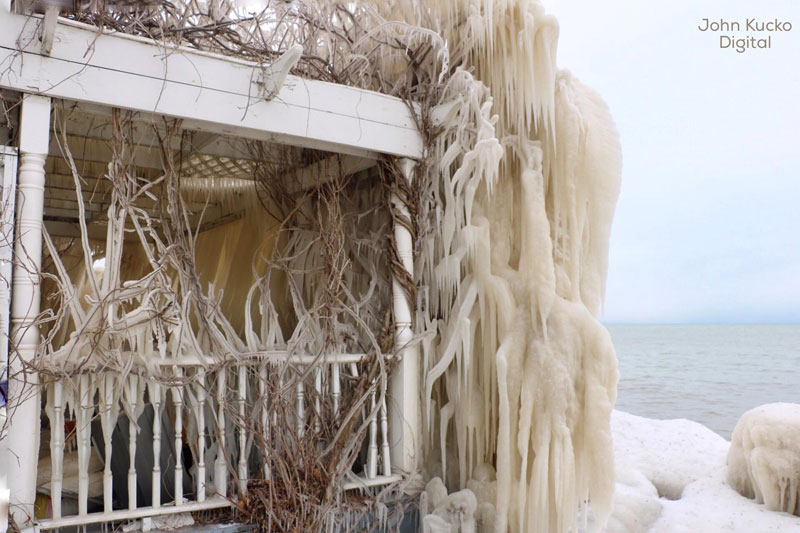 house incased in ice by john kucko digital 4 Crashing Waves, Strong Winds and Freezing Temps Encase Home in Ice