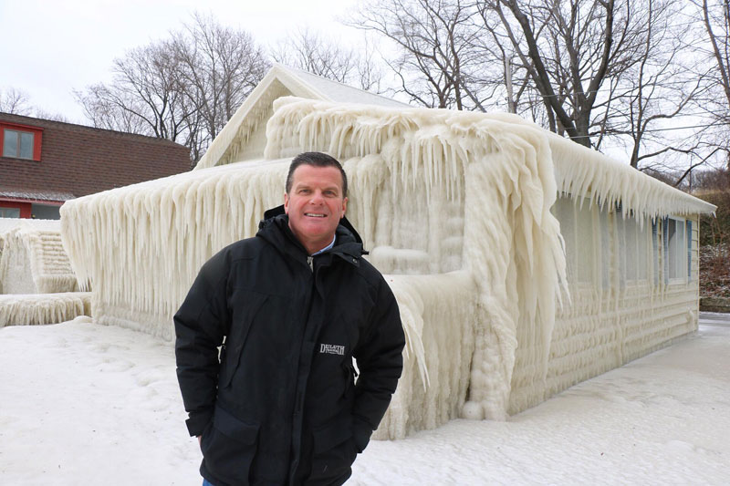 house incased in ice by john kucko digital 5 Crashing Waves, Strong Winds and Freezing Temps Encase Home in Ice